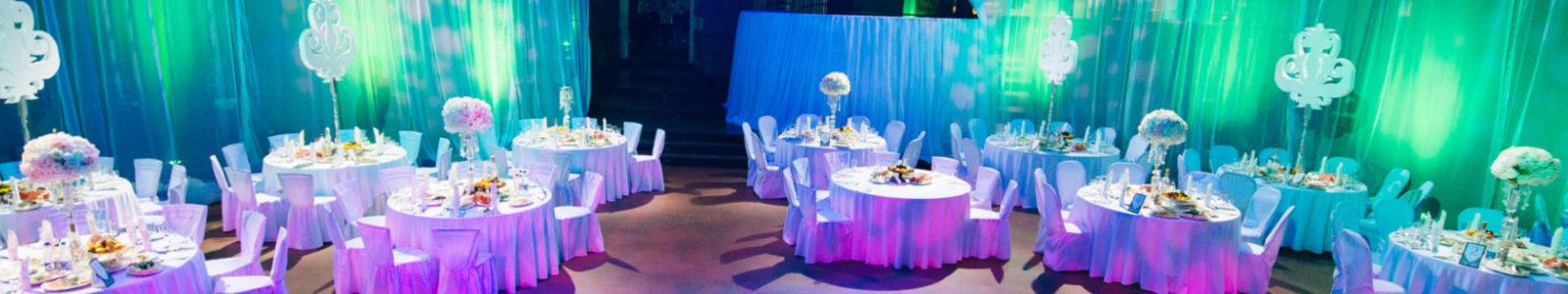 Оформление праздника светом в кафе, ресторане, клубе, на открытом воздухе – яркие идеи для незабываемого торжества
