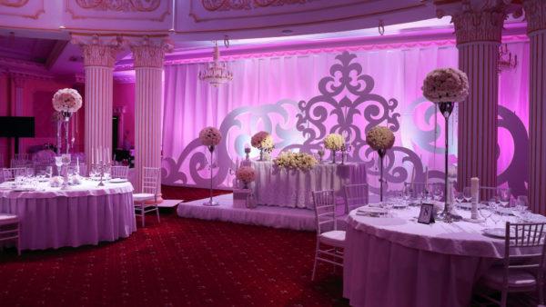 оформление зала свадьбы