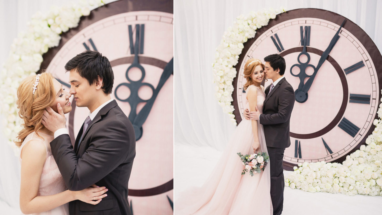 Интересный фон для фото на свадьбе