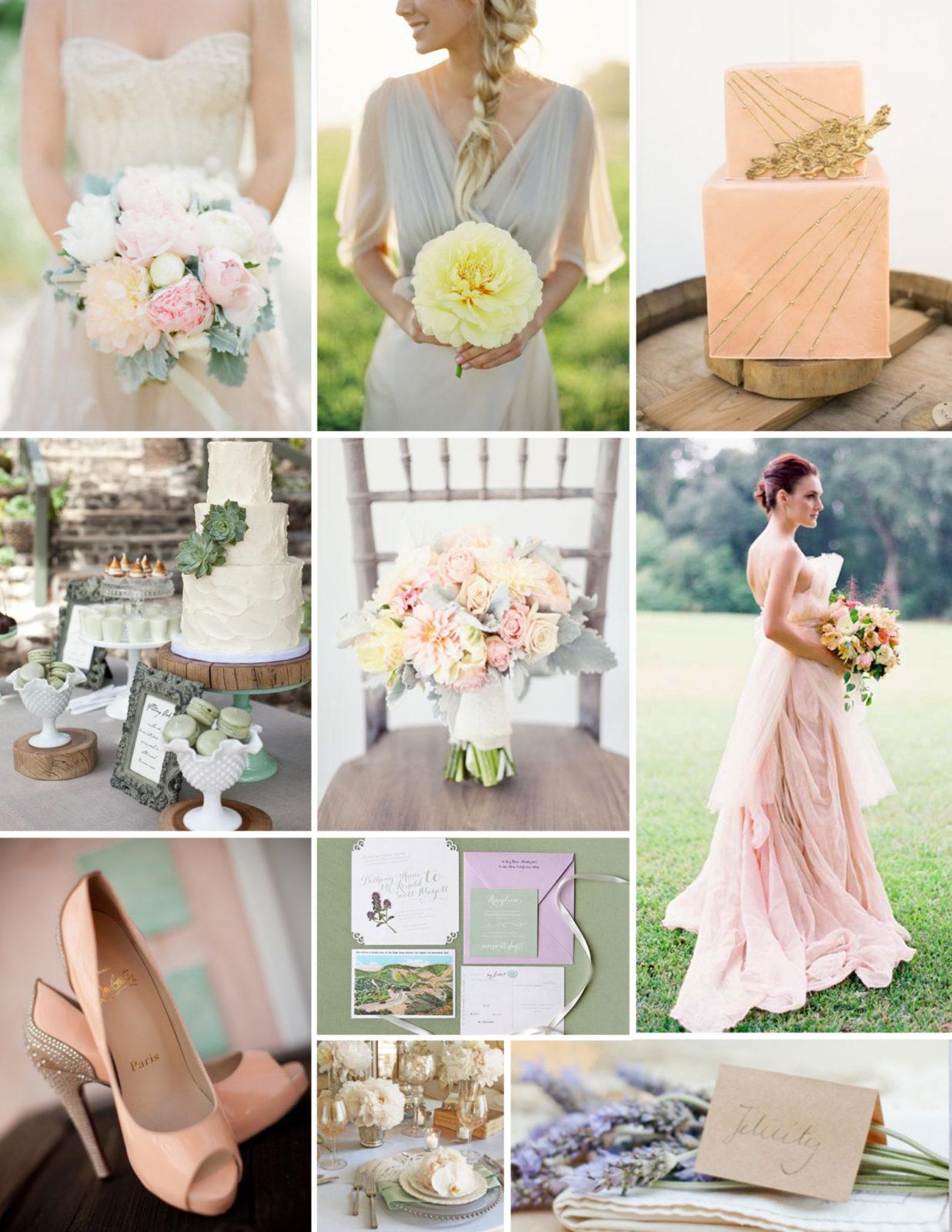Пастельные тона в свадьбе