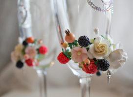 Оформление свадебных бокалов своими руками: самые красивые фото, необычные идеи и практические советы