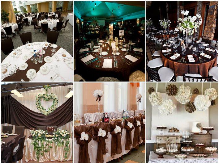 шоколадная свадьба столы