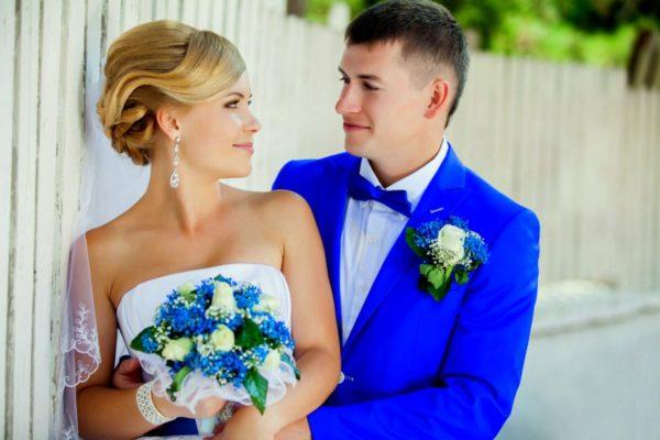 На голубой свадьбе оформление должно поразить своей неповторимостью