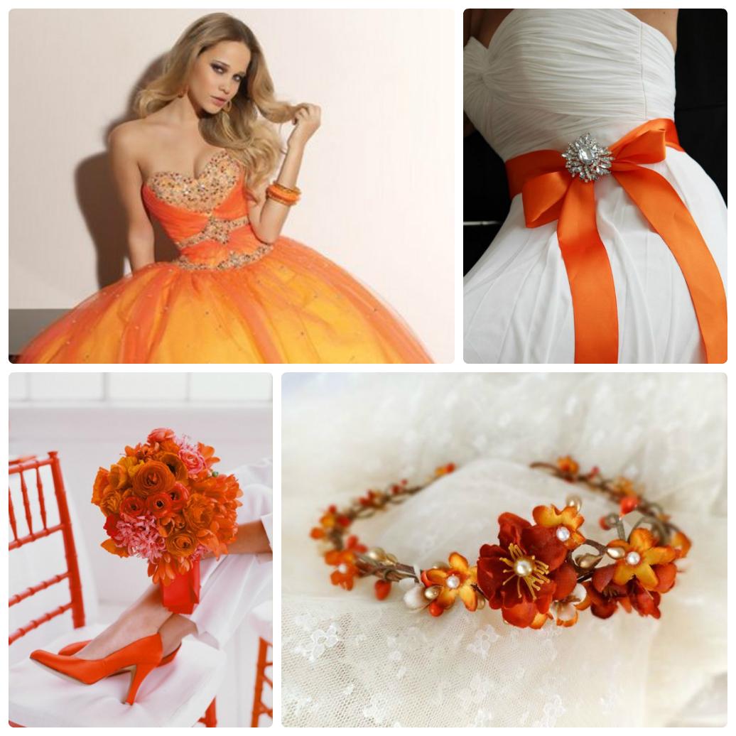 Оранжевый для нарядов невесты