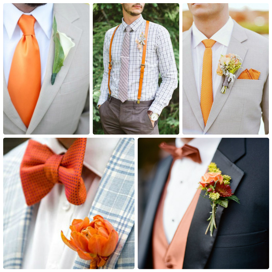 Оранжевый в костюме жениха