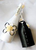 Как сделать красивое и необычное оформление бутылок на свадьбу – мастер-класс от эксперта