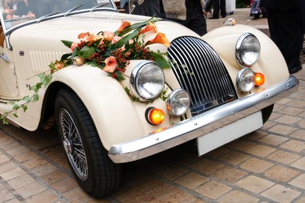 авто для винтажной свадьбы