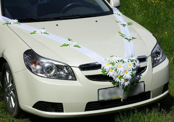 автомобиль для ромашковой свадьбы