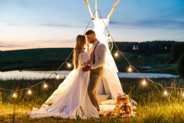фотосессия свадьбы в стиле бохо