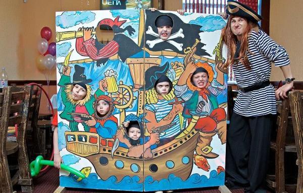 фотозона в стиле пиратов