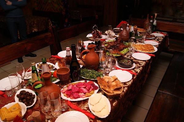 грузинский свадебный стол