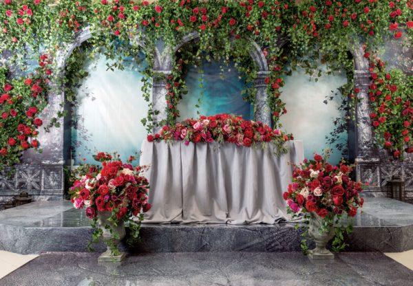 декорирование живыми цветами