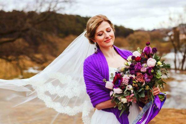 образ невесты сиреневой свадьбы