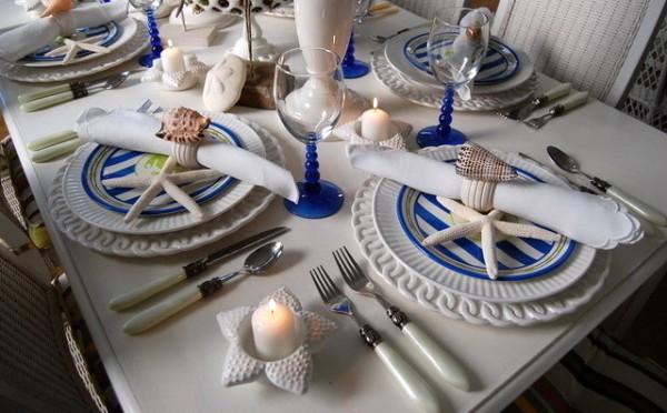оформление свадебного стола в морском стиле