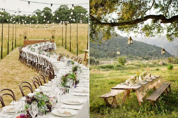столы для эко свадьбы