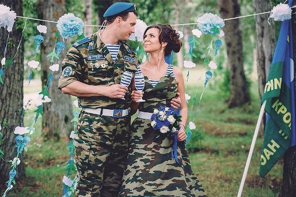 свадьба в стиле милитари