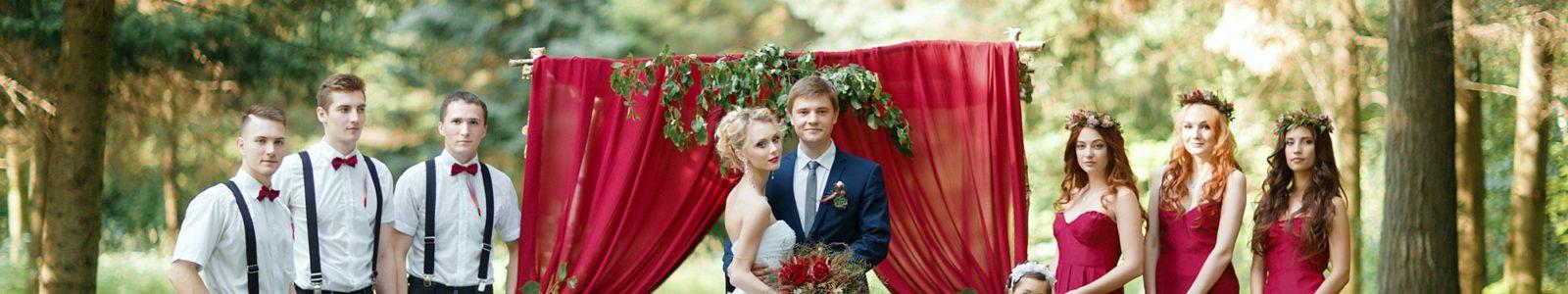 Особенности оформления свадьбы в цвете марсала