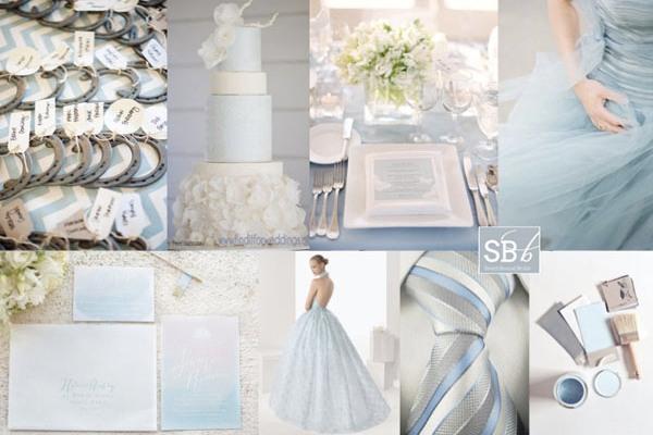 свадьба в жемчужно-голубом цвете