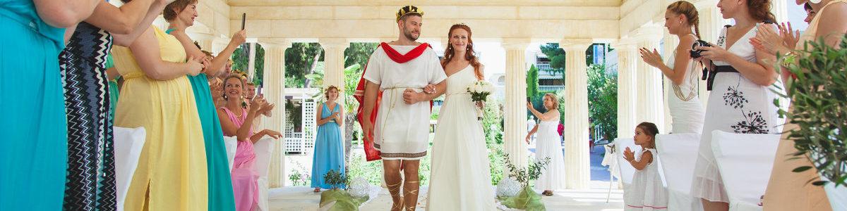 Классическая свадьба в греческом стиле: античная красота древних мифов