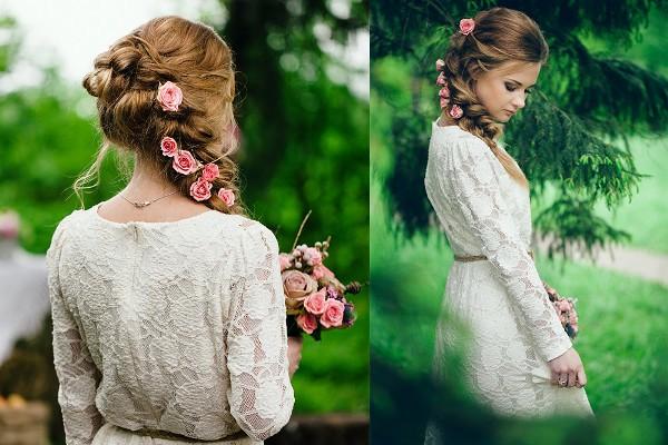 свадебное платье в эко стиле