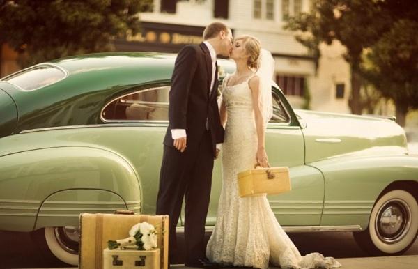 кортеж для свадьбы в стиле шебби шик