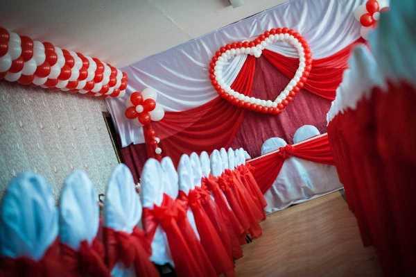 оформление банкетного зала для свадьбы