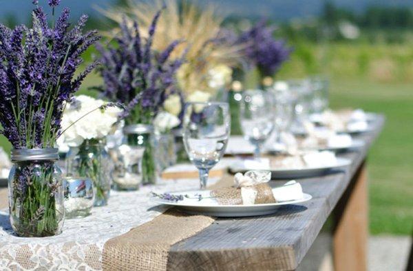 лавандовая свадьба в экостиле