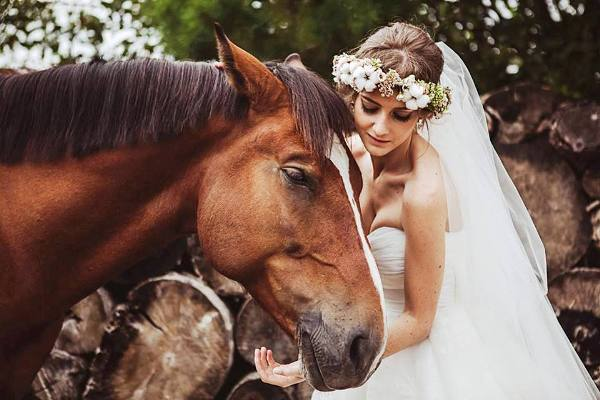 образ невесты лесной свадьбы