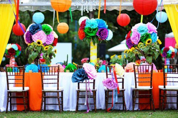 оформление радужной свадьбы
