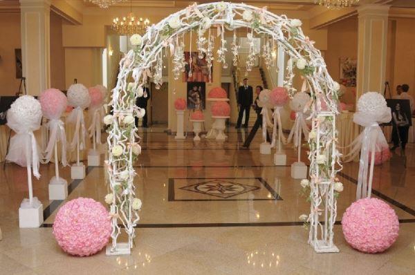 оформление входа на свадьбу