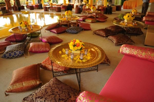 оформление зала свадьбы в восточном стиле