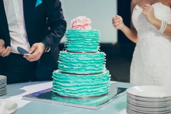 торт для мятной свадьбы