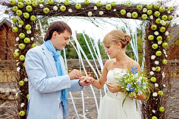 яблочная свадьба осенью