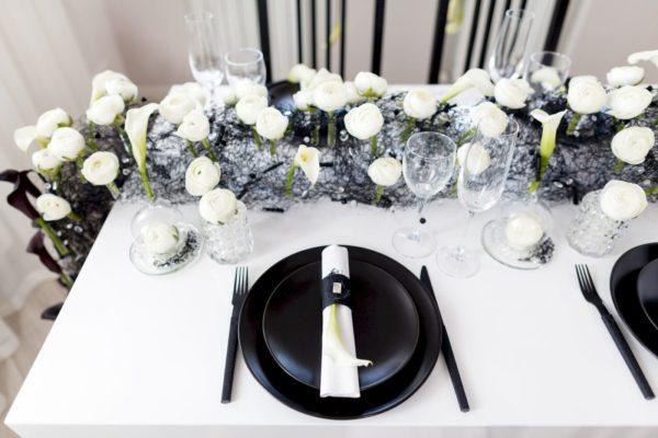 Оформление свадебного стола жениха и невесты, фото