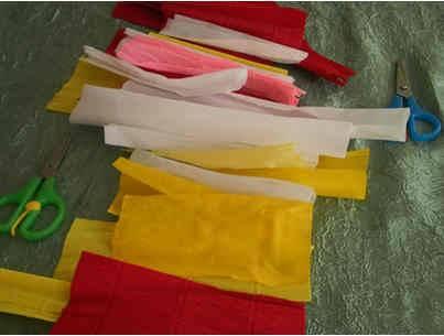Роза из гофрированной бумаги шаг 1