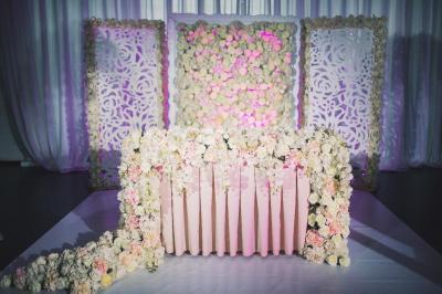 Композиция на стол (в пол, искусственные цветы)